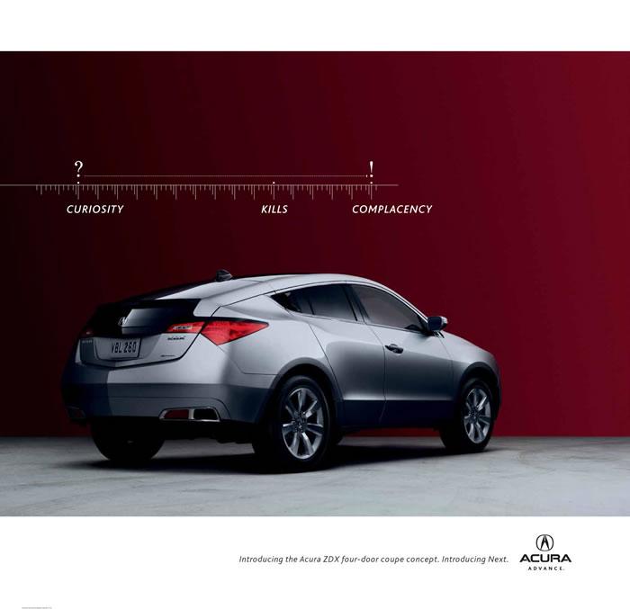 本田讴歌ZDX汽车平面广告 3高清图片